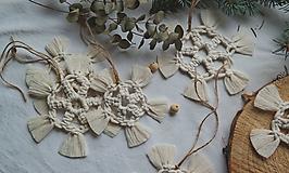 Dekorácie - Macramé vianočné ozdoby SET - 12611279_