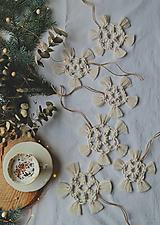 Dekorácie - Macramé vianočné ozdoby SET - 12611323_