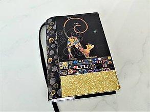 Papiernictvo - Kočka podle Gustava Klimta - obal na knihu  SKLADEM - 12606839_