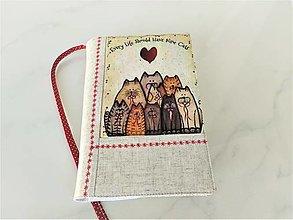 Papiernictvo - Kočky kamarádky - veselý obal na knihu    SKLADEM - 12606842_