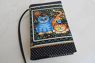 Papiernictvo - Dvě kočičky - romantický obal na knihu - 12606846_