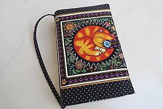 Papiernictvo - Kočička v klubíčku - milý obal na knihu - 12606847_