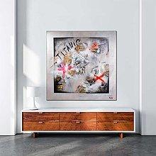 """Obrazy - """"TITANIC"""" - 80x80 abstraktný obraz - 12608843_"""