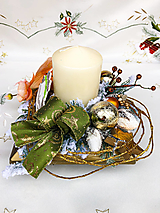 Dekorácie - Vianočná  dekorácia so sviečkou - 12608676_