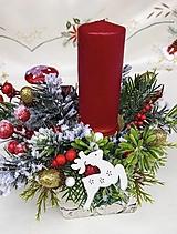 Dekorácie - Vianočná dekorácia so sviečkou - 12609104_