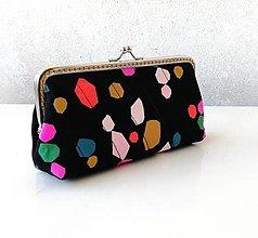 Peňaženky - Peňaženka XL s vreckom na zips Farebné geometrické tvary - 12607181_