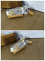 Taštičky - Kozmetická taštička Bronz - 12612549_