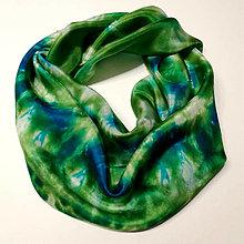 Šatky - Hodvábna šatka zelená (Hodvábna šatka zelená) - 12606780_
