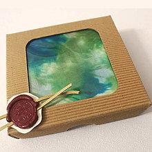Šatky - Hodvábna šatka zelená (Hodvábna šatka zelená v darčekovej krabičke) - 12606781_