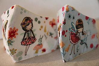 Rúška - dievčenské rúško (3-5 rokov) - 12613101_
