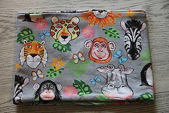 Detské oblečenie - bavlnený zvieratkovský nákrčník - 12613154_