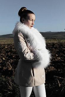 Kabáty - Ručne maľovaný kabát - 12607386_