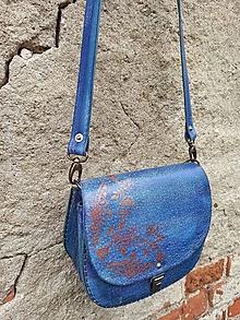 """Kabelky - Kožená kabelka """"BlueMoon"""" - 12610737_"""