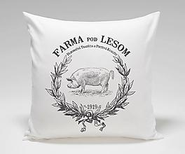 Úžitkový textil - Vankúš FARMA- prasiatko - 12618186_
