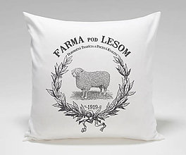 Úžitkový textil - Vankúš FARMA- ovečka - 12618205_