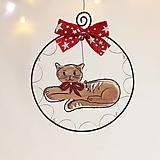 Dekorácie - Vianoce s mačičkou - 12614322_
