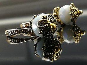 Náušnice - Náušnice RUSTIQUE (2.9 cm - Biela) - 12615496_
