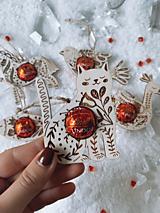 Dekorácie - Vianočná ozdoba salónka cicka - 12616025_