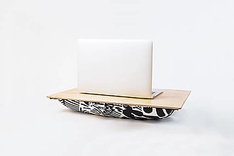 Nábytok - Podložka pod notebook Popono Black Plants M - 12619194_