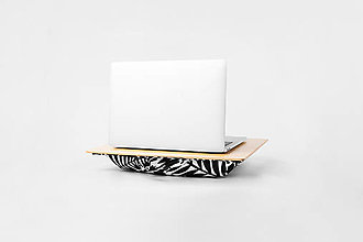 Nábytok - Podložka pod notebook Popono Black Plants S - 12619201_