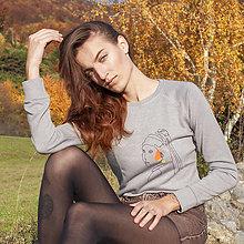 Mikiny - Mikina Dievča s perlou - 12613603_