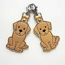 Kľúčenky - Prívesok zlatý retríver a labrador - 12613538_