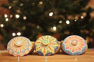 Náhrdelníky - Vianočná darčeková Boho kolekcia - bohošperk a šperkovnica mandala - 12616267_