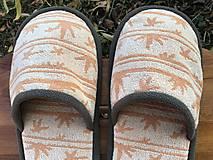 Obuv - Veľké oranžové papuče - 12613767_