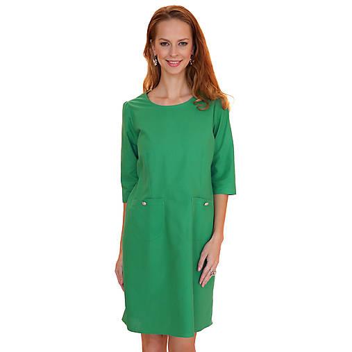Šaty - Annie - pohodlné šaty, zelené - 12619157_