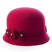 Čiapky, čelenky, klobúky - Klobúk Daisy - červený - 12613383_
