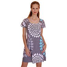 Šaty - Alice - pohodlné šaty, grafické kruhy - 12619043_