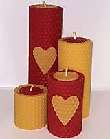 Svietidlá a sviečky - Dvojfarebná sada adventných sviečok - 12619509_