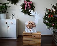 Dekorácie - Adventný kalendár biely jeleň - 12614498_
