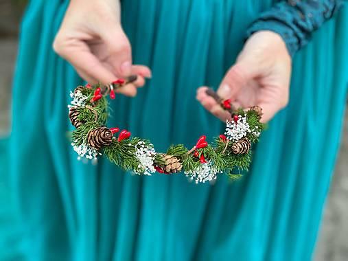 """Zimná čelenka """"vianočný les"""""""
