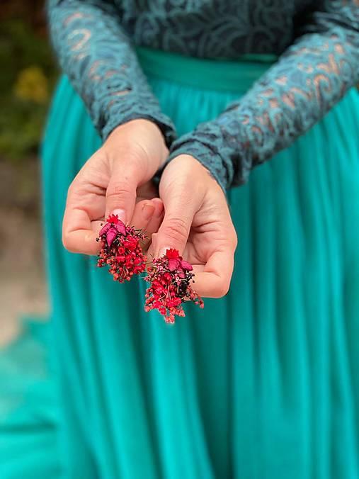 "Kvetinové náušnice ""dúšok lásky"""