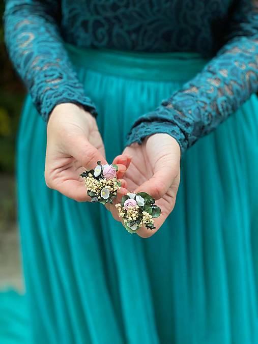 """Kvetinové náušnice """"cez tvoje dlane"""""""