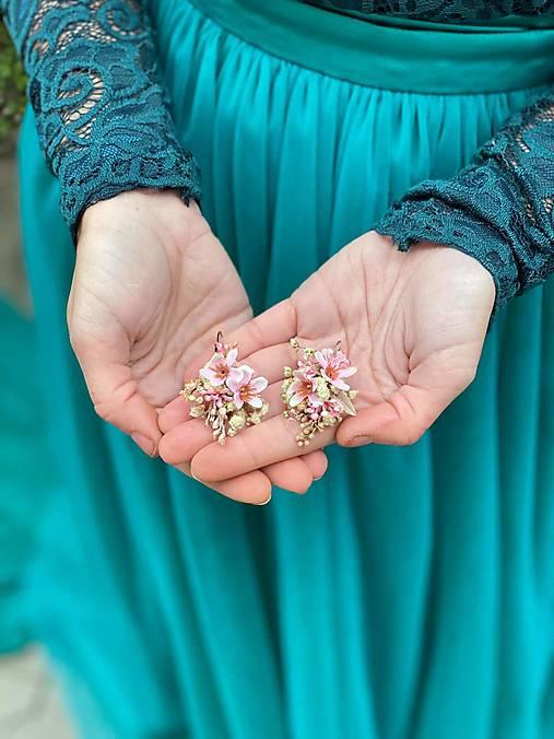 """Kvetinové náušnice """"viac ako môžem"""""""