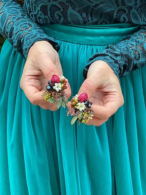 """Kvetinové náušnice """"letná ľúbeznosť"""""""