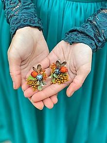 """Náušnice - Kvetinové náušnice """"o spomienkach"""" - 12618834_"""