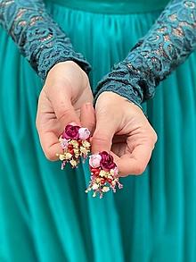 """Náušnice - Kvetinové náušnice """"prísľuby stmievania"""" - 12618871_"""