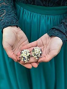 "Náušnice - Kvetinové náušnice ""tak krásne mi..."" - 12618905_"