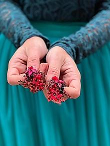 """Náušnice - Kvetinové náušnice """"dúšok lásky"""" - 12619618_"""