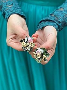 "Náušnice - Kvetinové náušnice ""cez tvoje dlane"" - 12619657_"