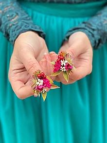 """Náušnice - Kvetinové náušnice """"vo vzduchu cítiť dážď"""" - 12619679_"""