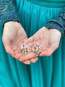 """Náušnice - Kvetinové náušnice """"viac ako môžem"""" - 12619715_"""