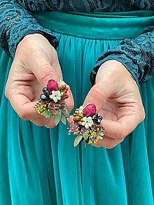 """Náušnice - Kvetinové náušnice """"letná ľúbeznosť"""" - 12619752_"""