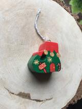 Dekorácie - Drevená Vianočná čižmička - 12614489_
