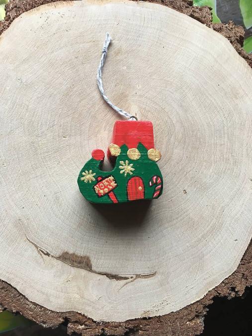 Drevená Vianočná čižmička