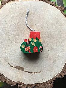 Dekorácie - Drevená Vianočná čižmička - 12614491_
