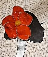Obrazy - Dáma s kvetom - mazaikový obraz - 12618373_